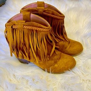 Girls Rock and Candy fringe boots